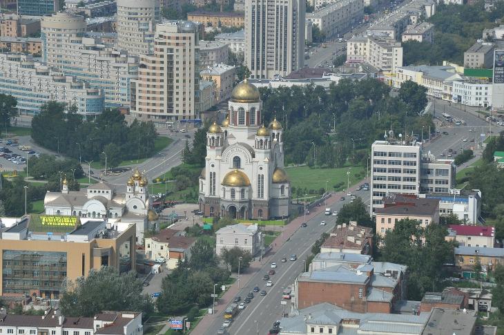 панорама Екатеринбурга с высоты птичьего полета