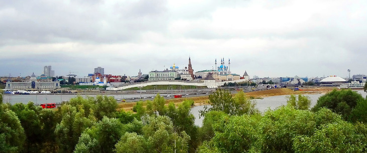 панорама столицы Татарстана Казани