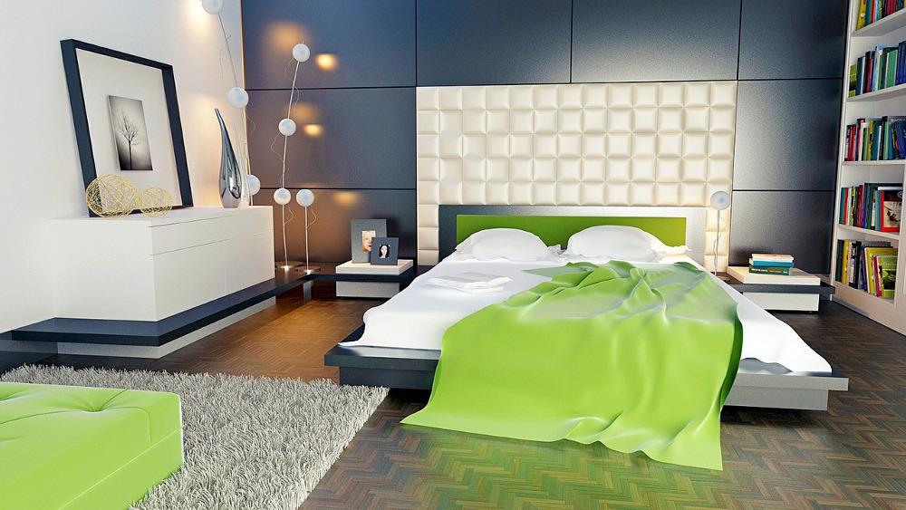 богато обставленная спальня большой площади